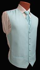 Men's Aqua Blue Green Tuxedo Vest and Long Tie Set Formal Wedding Cruise Prom L