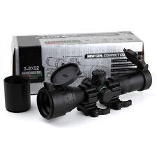 Tactical Mil-dot Rifle Scope Sight 3-9X32 AOCE 1Inch Tube +Sun Shade + QD Mount