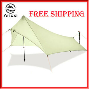 Ultra Light Rain Fly Tent Tarp, Waterproof 15d Silicone Coating Nylon Camping