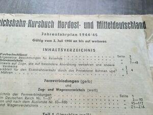 1944 original Reichsbahn Kursbuch Fernverbindungen Zugverzeichnis Deutschland