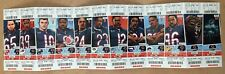 2018 NFL CHICAGO BEARS FULL UNUSED FOOTBALL SEASON TICKETS With PACKERS PATRIOTS