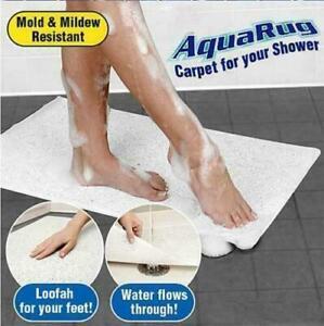 AQUA CARPET NON SLIP FEET GRIP BATHROOM RUG MAT BATH SHOWER WATER HYDRO LOOFAH