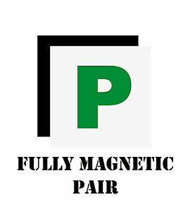 2x Fully Magnetic P Plate - Passed Pass Green Driver Plates for Car Vehicle - UK