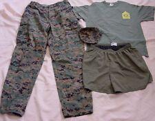 USMC Woodland Marpat Pants Med-Long, Cap, Shorts & NCO Academy T-Shirt Lot