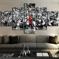 Tableau Mural Michael Jordan NBA Polyptyque Impression Sur Toile Déco Chambre