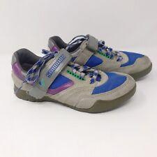 Vtg Shimano Womens SPD SH-MO5 Mountain Bike Cycling Shoes Suede Sz 38.5 US 7