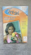 Pro-Jet Photo Quality Injet Paper 210gsm gloss 6x4 20 sheets