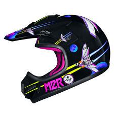 M2R MX1 Junior PC-7 Purple Helmet-Space Machine-Small