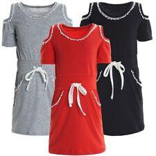 Markenlose Mädchenkleider aus Baumwollmischung für die Freizeit