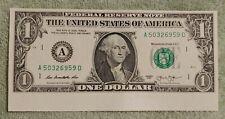2013 $1bill error Misaligned Miscut Irregular Free Hard Case