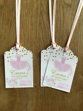 Ballerina Thank You Gift Tag~Personalised Birthday, Bridal Shower, Baby Shower
