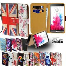 Flip Leather Card Wallet Stand Cover Phone Case For LG Smartphones + Strap