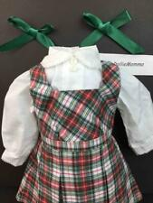 American Girl Molly School Plaid Jumper~Blouse~Ribbons~Out fit~Pleasant Comp tag