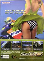 2002 Moto GP3 Small Poster Ad PS2 Namco PlayStation 2