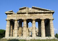 Ancient Greek Temple Poster Size A4 / A3 Greece Landscape Poster Gift #12202