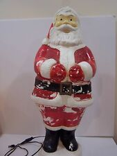 Rare Vintage Christmas Santa Empire Blow Mold Light Yard Decor plastic outdoor