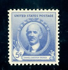 US Stamp #887 Daniel Chester French 5c, PSE Cert - XF 90 - MOGNH - SMQ $10.00