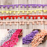 20yd 10mm Balls Tassels Colored Pom Pom Bobble Trim Braid Fringe Ribbon Crafts