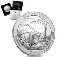 2010-P 5 oz Silver America the Beautiful ATB Wyoming Yellowstone National Park