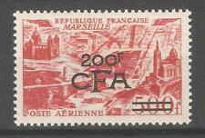 Reunion CFA 1949,Air Mail Surcharged 200fr on 500fr,Sc C40,VF MLH*OG (F-C)