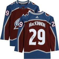 Nathan Mackinnon Colorado Avalanche Autografado Borgonha Adidas autêntico Jersey