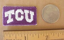 "Texas Christian University TCU  Embroidered 1 1/2""x 7/8"" Iron-On Cap Shirt Patch"