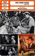 FICHE CINEMA : RUE SANS ISSUE - Sidney,McCrea,Bogart,Wyler 1937 Dead End
