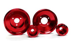 OBX Power Pulley Set Red For BMW 92-98 325i 325is 2.5L 328i 328is 2.8L DOHC E36