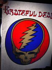 00004000 Grateful Dead Skull 1970s Vintage Americana Iron On Transfer -Nice, B-5