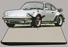 MODEL CARS, PORSCHE 930 TURBO -01, car passenger,11,8x 7,8 inches  with Clock