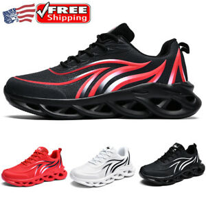 Mens Athletic Shoes Running Shock Absorbing Sneakers Casual Gym Breathable Light