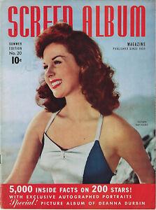SCREEN ALBUM #20 • Summer 1942 • Susan Hayward • Film Magazine • Classic cover