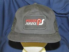 trucker hat baseball cap POWER SERVICE patch cool style rare rave retro vintage