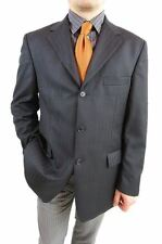 Ermenegildo Zegna Superfine Wool UK44 EU54 Tweed Suit Striped Jacket Blazer AS7