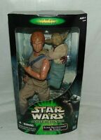 Star Wars Power of the Jedi Luke Skywalker Yoda Action Figures New Hasbro 2001