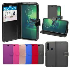 Case For Motorola G8 Plus Wallet Flip PU Leather Stand Card Slot Pouch Cover