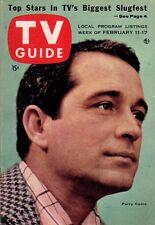 1956 Tv Guide Febrero 11 - James Arness, Gunsmoke; Tom Tully Línea ; Lone Ranger