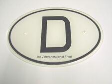 VW Käfer Porsche 356  D-Plate D-Sign Nationalitätenkennzeichen D-Schild NOS