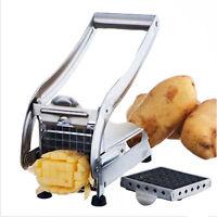 Pommesschneider Edelstahl Pommes Frites Schneider Kartoffelschneider+2 Einsätzen
