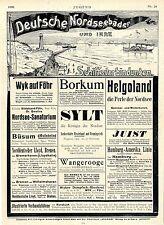 Deutsche Nordseebäder u.Schiffsverbindungen Hamburg-Amerika Linie Wyker D...1906