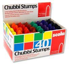 Scola Chubbi muñones. Caja de 40 lápices de colores para colorear. utilizado en las escuelas AS40