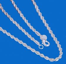 Western Jewelry 4mm 925 Sterling Silver Plated French Rope  Chain 20""