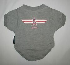"DOG DOGGY PUPPY CLOTHES GRAY MLB ANAHEIM ANGELS TEE T-SHIRT 12""-16"" NEW SMALL S"