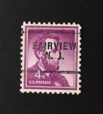 Fairview, New Jersey Precancel - 4 cents Lincoln (U.S. #1036) NJ