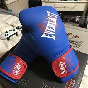 Everlast Prospect Youth Training Gloves Blue 8oz Brand New