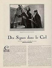 Coupure de presse nouvelle inédite de E.M. Laumann Des signes dans le ciel 1923