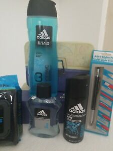 Happy Father Day / Birthday Men Adidas Ice Dive Blue Fresh & Clean Gift Set