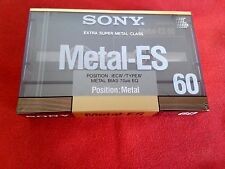 CASSETTE TAPE BLANK SEALED  1x (one)  SONY METAL ES 60  [1988]  made in Japan