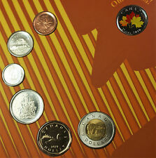 2010 Canada Mint Set Special Maple Leaf Cover 7 Brilliant Uncirculated Coins