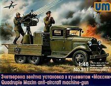Unimodel 511 Quadruple Maxim AA MG on Gaz-AA Chassis WW II 1/48 scale